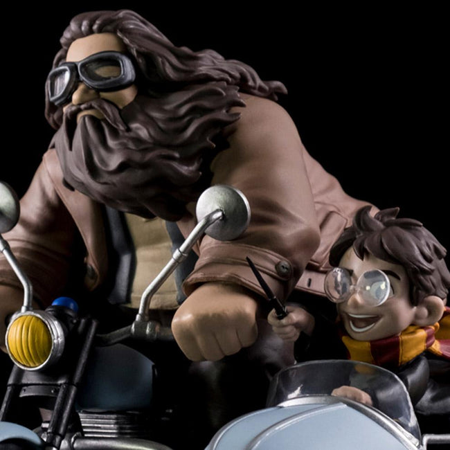 Harry Potter and Rubeus Hagrid Limited Edition Q-Fig Max, Quantum Mechanix, Harry Potter Action Figure, Merchandise