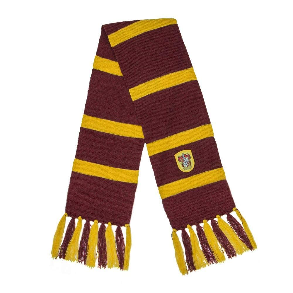 Unisex Embroidered Harry Potter Gryffindor Line Scarf
