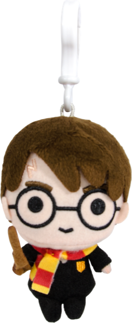 Harry Potter Plush Keychain (with Clip on) - Harry Potter Charms 4""