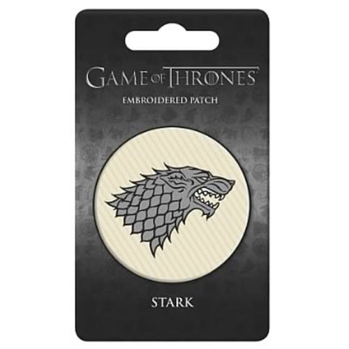 Game of Thrones House of Stark Embroidered Patch (Officially Licensed)