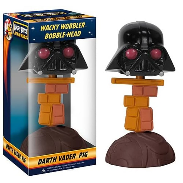 Funko Star Wars & Angry Birds - Darth Vader Piggy Wacky Wobbler Bobble-Head