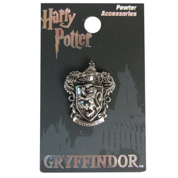 Harry Potter Gryffindor Crest Pewter Lapel Pin by Monogram