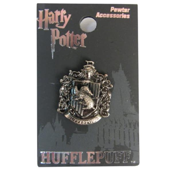 Harry Potter Hufflepuff Crest Pewter Lapel Pin by Monogram