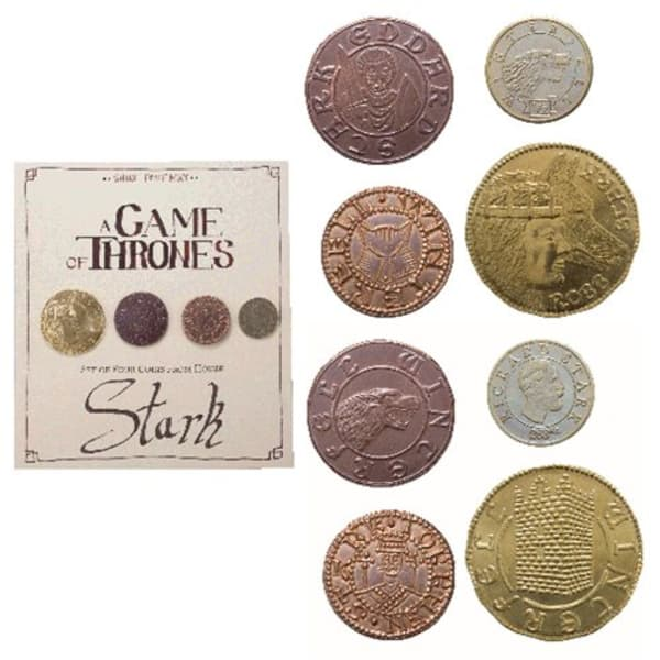 Game of Thrones House Stark 4-Pack Coin Set by Shire Post Mint