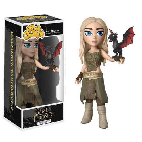Daenerys Targaryen with Dragon  Rock Candy Figure - Licensed Game of Thrones Merchandise for Fans