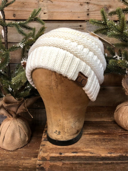Ivory CC Beanie (Traditional)