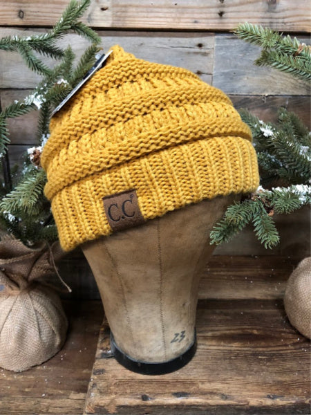 Mustard CC Beanie (Traditional)