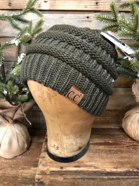 New Olive CC Beanie (Traditional)