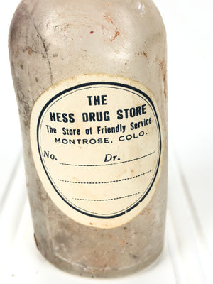 Hess Drug Pharmacy Bottle