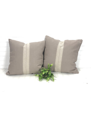 Taupe Grain Sack Pillow