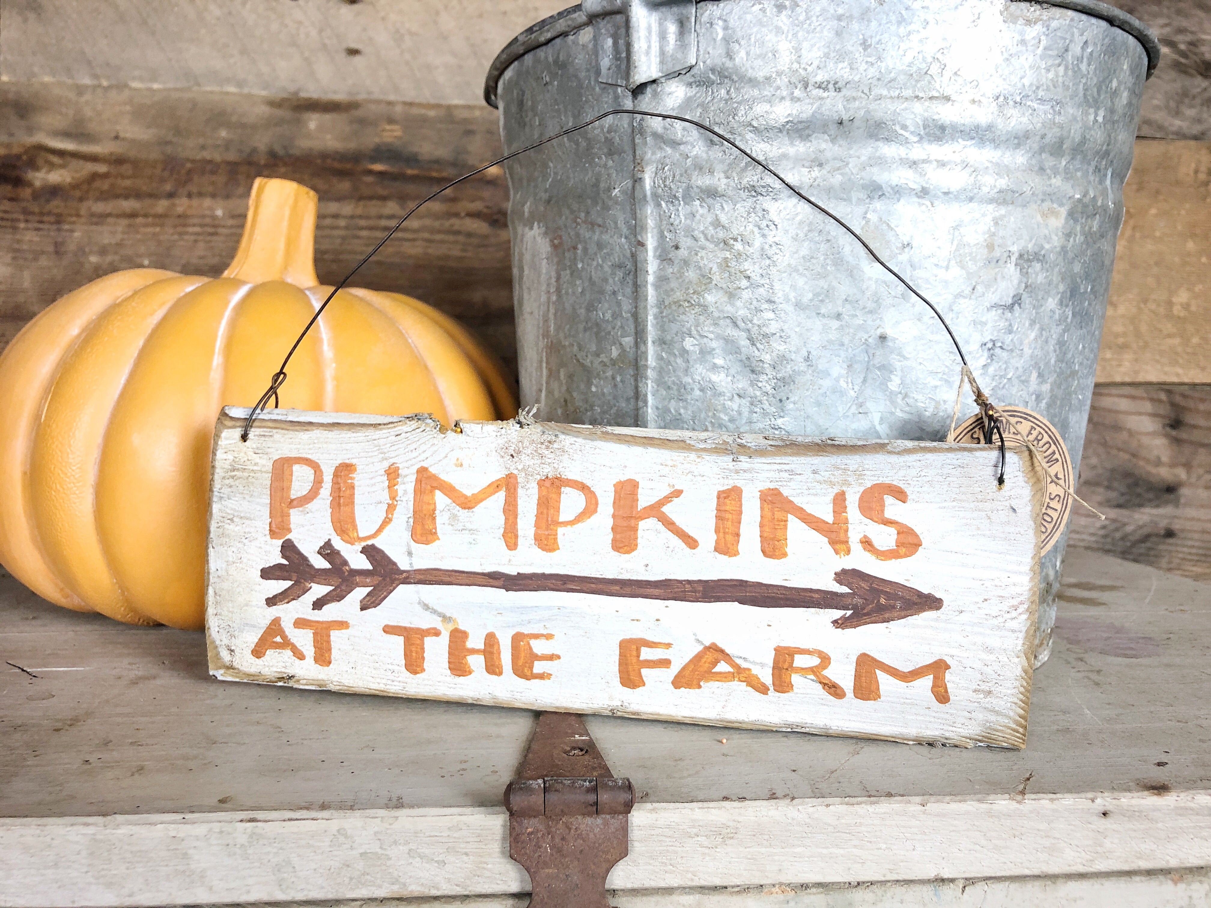 Pumpkins at the Farm Sign