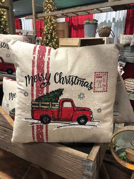 Christmas Truck Pillow (Large)