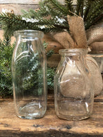 Small Antique Milk Bottles
