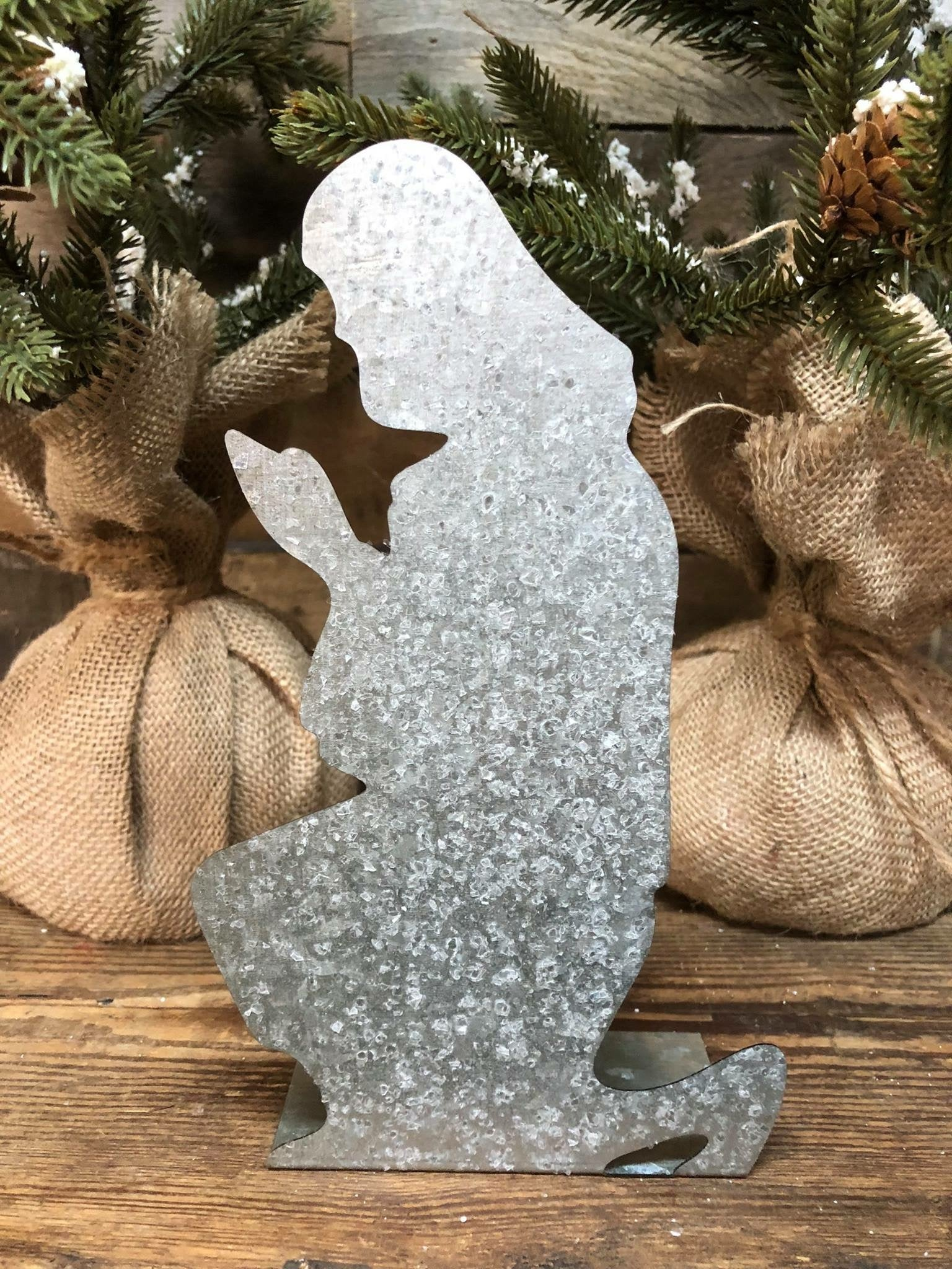 Galvanized Nativity