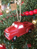 Red Truck Christmas Ornament