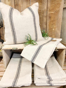 Grain Sack Stripe Pillow