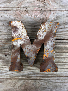 Rusty Metal Letter M