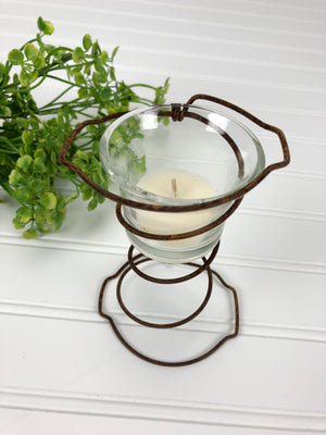 Old Bed Spring Candle Holder
