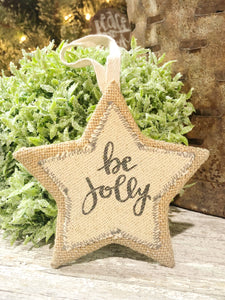 """Be Jolly"" Star Ornament"