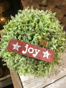 "Red Wooden ""Joy"" Ornament"