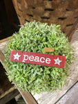 "Red Wooden ""Peace"" Ornament"