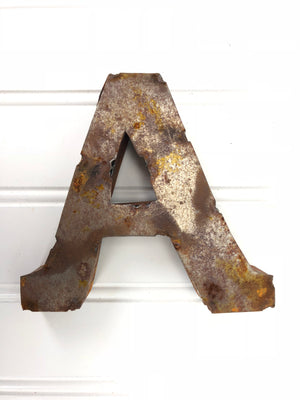 Rusty Metal Letter A