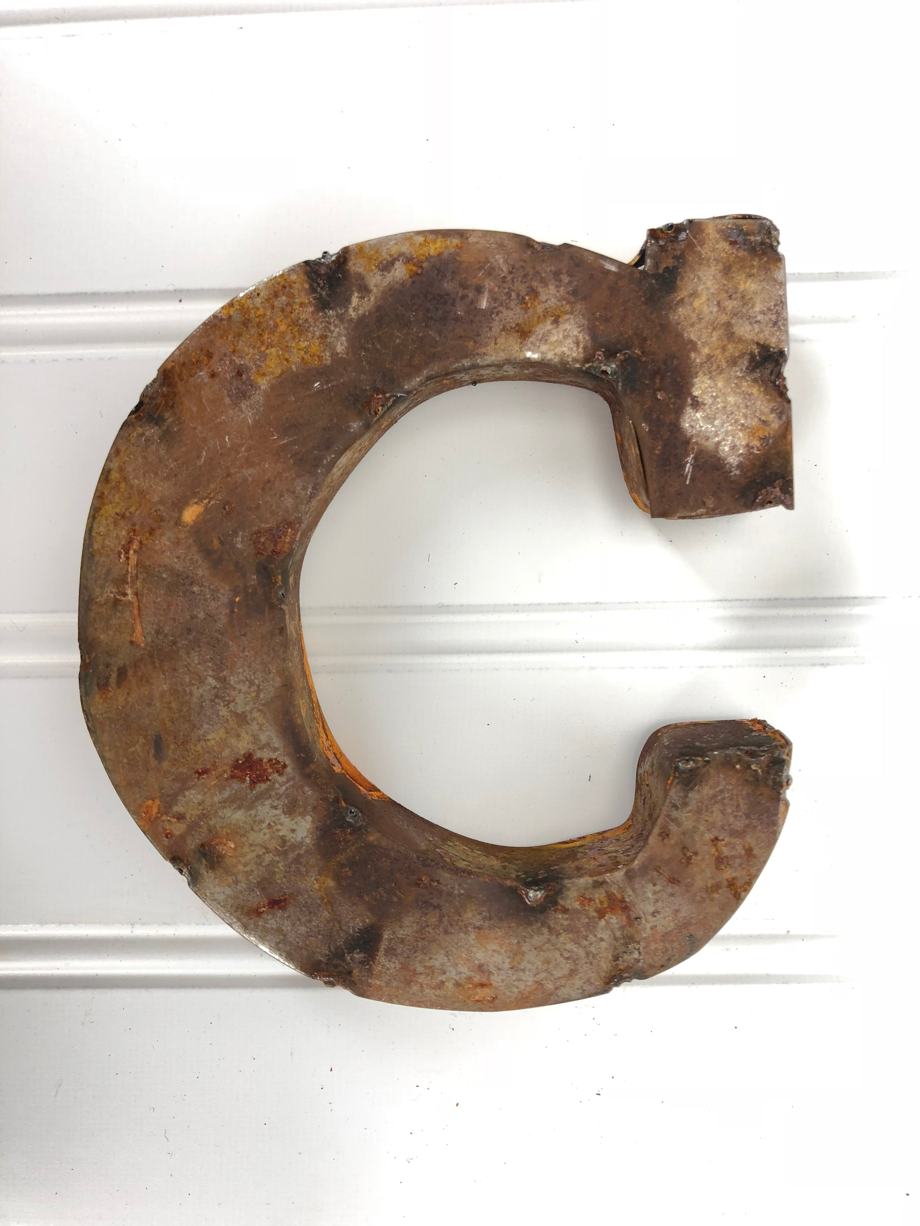 Rusty Metal Letter C