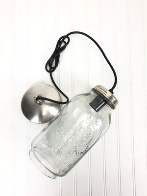 Mason Jar Pendant Light (Large)