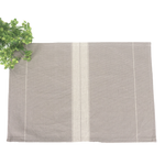 Taupe Grain Sack Stripe Placemat