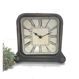 Vintage Inspired Square Clock
