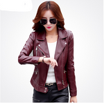 Slim Short Leather Jacket