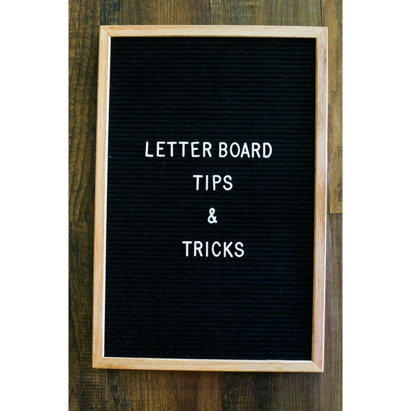 16x20 Felt Letter Board | Oak Frame Letterboards | Grey Black White Felt Letter Board with 340 White Letters | Felt Message Board | 16x20 Felt Sign - Laura Baby and Company