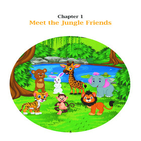 Jungle Friends: 5-Minute Stories about Friendship, Kindness and Sharing. Hardcover Children Illustrated Book