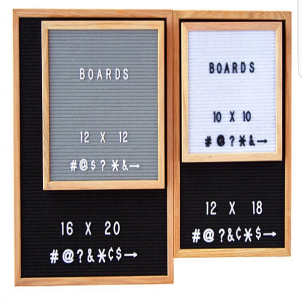 10x10 Felt Letter Board with Solid Oak Frame - Laura Baby and Company