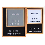 SALE 16x20 Felt Letter Board|Oak Frame Letterboards |Grey Black White Felt Letter Board with 340 White Letters, Characters, Emojis|Felt Message Board|16x20 Felt Sign - Laura Baby and Company