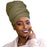 Novarena Olive Green Solid Color Head Wrap Stretch Long Hair Scarf Turban Tie Kente African Hat Jersey Knit Headwrap - Laura Baby and Company