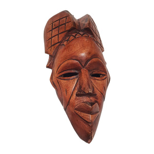 "15"" African Wood Mask: Brown"