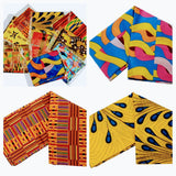 "SALE - Mix of 4 Pcs of KENTE Extra Long 72""×22"" Headwraps ANKARA Dashiki African Print Head Wraps/Scarfs for Women Multicolor Headwrap Tie Hat- Ethnic Tribal - Laura Baby and Company"