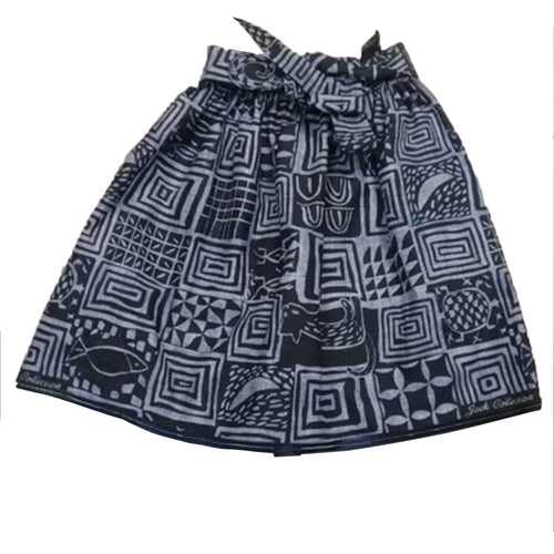 African Bamileke Tribe Black and White Dutch Ankara Wax Print Full Circle Skirt for Girls and Women African Printed Womens Casual Maxi Skirt Flared Pleated Floral Maxi Dashiki Skirts Multi Plus Size A Line High Waist Ball Gown (S-XL) - Laura Baby and Company