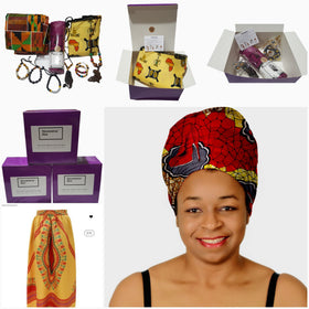 African Inspired Jewelry, Clothing and Beauty Subscription Box