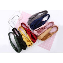 8 PCS Women Cross Hairband Printing Stretchy Headwrap Elastic Hair tie Accessories for Women Girls (Mixed Color) - Laura Baby and Company