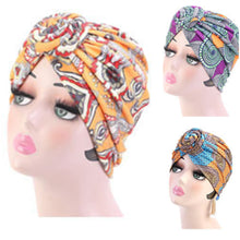 3 PC Set of PRE-TIED Women Headwrap Turban with Rose Flower Knot Bonnet Beanie Cap | Stretch Jersey Lightweight Breathable Wraps | Headbands | Bandana - Laura Baby and Company