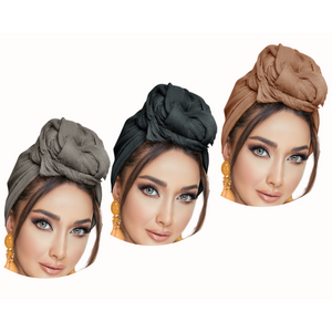 3 Pack Solid Colors Soft Headwraps Headband Long Hair Head Wrap Scarf Turban Tie Jersey Knit African head wraps