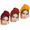 3 Pack Non-Stretch Solid Colors Soft Headwraps Headband Long Hair Head Wrap Scarf Turban Tie Jersey Knit African head wraps