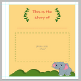 PREORDER Novarena Little Jungle and Farm Animals Lover Baby Memory Book with 50 milestones stickers- First 5 Years - Laura Baby and Company