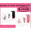 2 Pack Black and Pink Clean-Touch Baby Safe Ink Pads Make Baby's Hand & Footprint (Clean-Touch Baby Safe Inkpad) - Laura Baby and Company