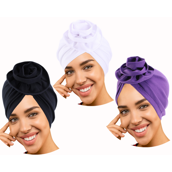 3 Pack Black/white/purple