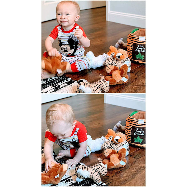 Jungle Friends Talking Plush Animal 1 Year Old up Boy Girl Baby Realistic Sound Stuffed Toys Babies Toddler Children 1 Pc Plush Rabbit - Laura Baby and Company