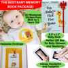 Novarena First 5 Years Baby Memory Book Journal Scrapbook with 48 Pack Monthly Milestones Stickers & Clean-Touch Baby Safe Ink Pad for Hand Footprint - Laura Baby and Company