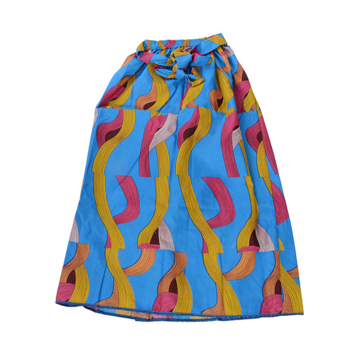 African Dutch Ankara Print Full Circle Skirt for Girls Women African Printed Womens Casual Maxi Skirt Flared Pleated Floral Maxi Dashiki Skirts(S-XL) - Laura Baby and Company